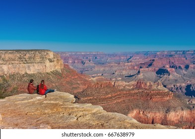 Hikers in Grand Canyon National Park, USA