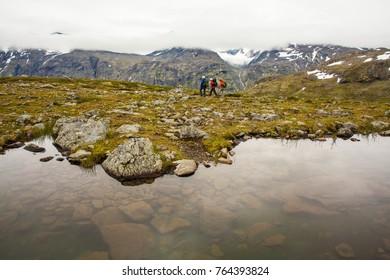 Hikers in Jotunheimen, Norway