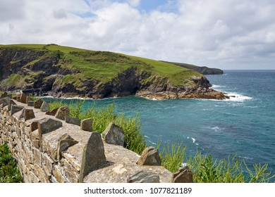 Hiking along the beautiful coastline of Cornwall, South England