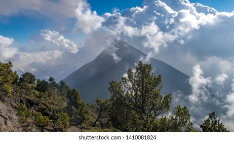 Hiking around Volcano Fuego in Guatemala