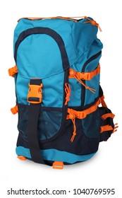Hiking backpack isolated on white background