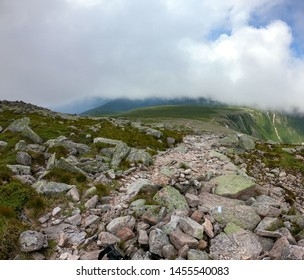 Hiking in Baxter State Park Maine Knife's Edge Trail to mount Katahdin