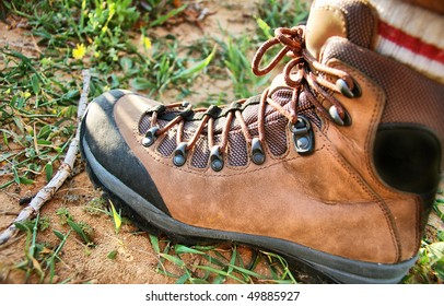 hiking boot close up