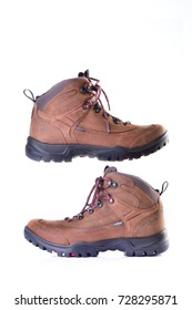 Hiking Boots with Isolated Background.