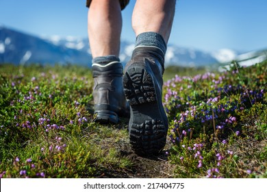 Hiking Boots on the Trail