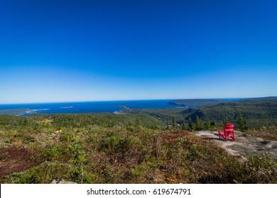 Hiking in Cape Breton, Nova Scotia. Franey Trail