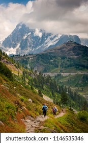 Hiking the Chain Lakes Trail, Mt. Baker, Washington. One of the most beautiful hikes in the Pacific Northwest is the Chain Lakes Trail near Artist Point in the Mt. Baker National Forest.