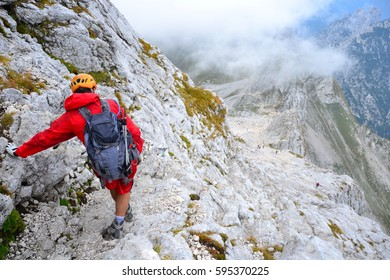 Hiking and climbing in unique mountains