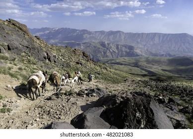 hiking Damavand Volcano in Iran