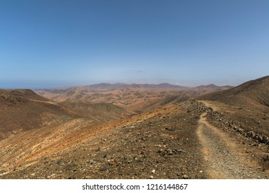 Hiking desert in Fuerteventura