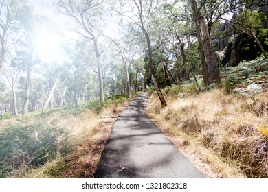 Hiking, Hanging Rock reserve, Victoria, Australia.