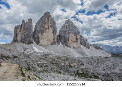 Hiking in Italian Dolomites to the spectacular and famous Tre Cime di Lavaredo.