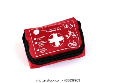hiking mini first aid kit on a white background. first aid kit 2