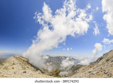 Hiking in the Mt. Baldy Trail at Los Angeles, California