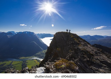 Hiking in Norwegian mountains