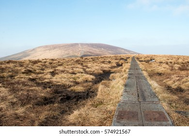 Hiking on Djouce Mountain, Co Wicklow, Ireland