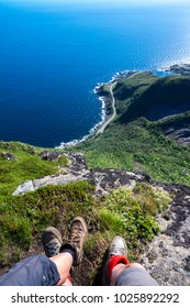 Hiking on the Lofoten Mountains