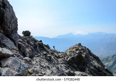 Hiking on Monte Cinto, Corsica.