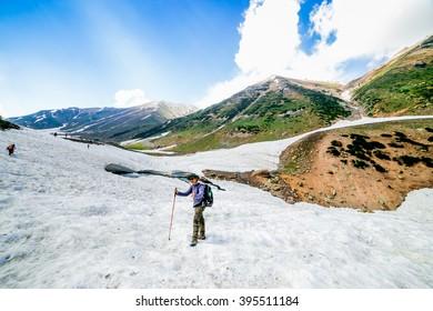 Hiking on Sonamarg mountain, Kashmir India
