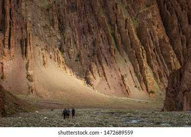 Hiking on the trails of Stok Kangri peak expedition in Leh-Ladakh, J&K, India