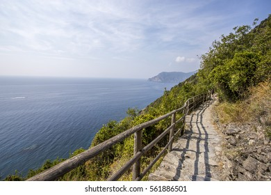 Hiking path in Cinque Terre, Italy