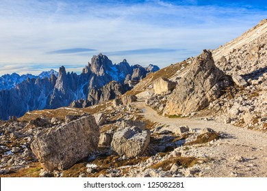 Hiking path in the dolomites