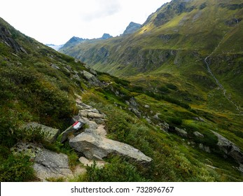 Hiking path in the Mountains