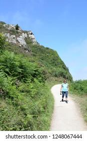 Hiking at Perros-Guirec, Brittany