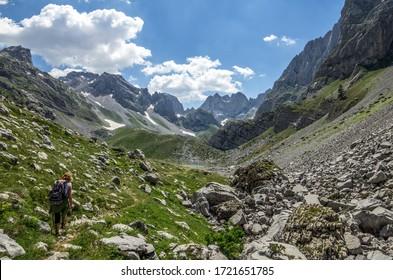 Hiking in the Prokletije National Park on the Montenegro-Albania border