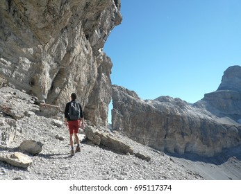 """Hiking in Pyrenees, mountain """"Taillon"""", France"""
