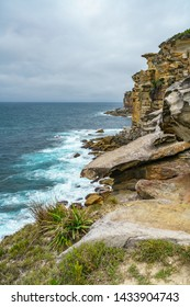 hiking in the royal national park, providential lookout point, new south wales near sydney, australia