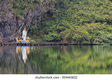 Hiking and sight seeing at Guishan Island of Taiwan