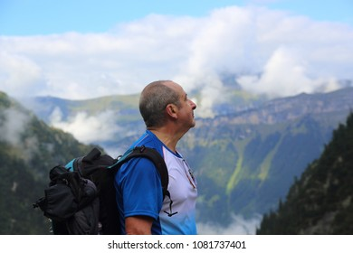 Hiking in Swiss mountains