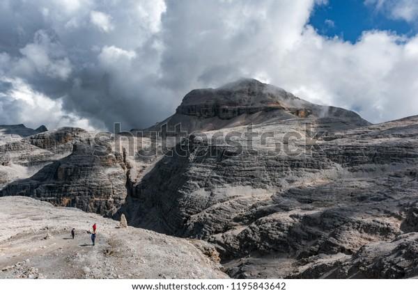 Hiking Terrazza Delle Dolomiti Stock Photo Edit Now 1195843642
