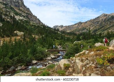 Hiking Teton Canyon