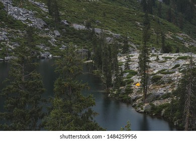 Hiking through the Trinity alps on the Canyon Creek Trial