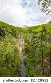 Hiking Thunderbird Falls in Alaska