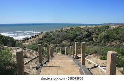 Hiking trail along the coast, Orange County, CA