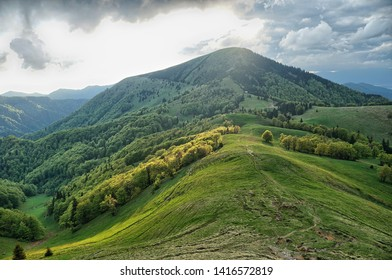 hiking trail along the mountains in Slovakia, Velka Fatra - Shutterstock ID 1416572819