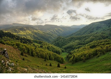 hiking trail along the mountains in Slovakia, Velka Fatra - Shutterstock ID 1416572834