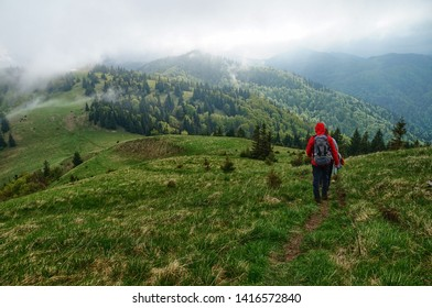hiking trail along the mountains in Slovakia, Velka Fatra - Shutterstock ID 1416572840