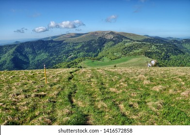 hiking trail along the mountains in Slovakia, Velka Fatra - Shutterstock ID 1416572858