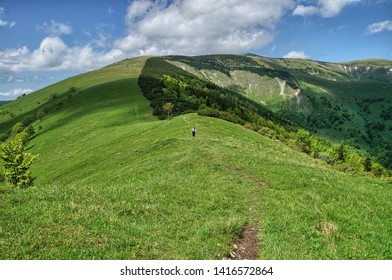 hiking trail along the mountains in Slovakia, Velka Fatra - Shutterstock ID 1416572864
