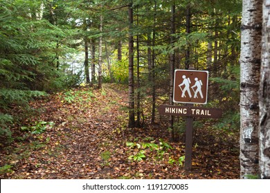Hiking trail around Divide Lake in the Superior National Forest of northern Minnesota