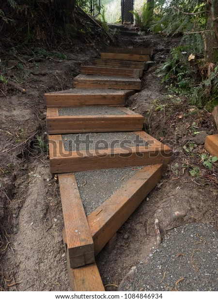 Hiking trail construction Pacific Northwest, USA