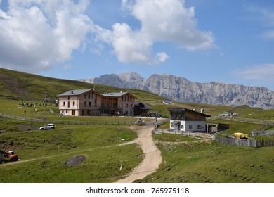hiking trail in the dolomiti