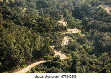Hiking trail in Griffith Park, Los Angeles