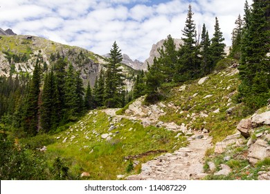 Hiking Trail High in the Colorado Rocky Mountains