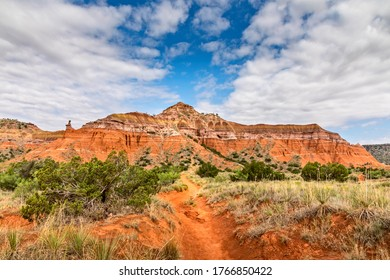 Hiking trail to the lighthouse rock, Palo Duro Canyon State Park Texas