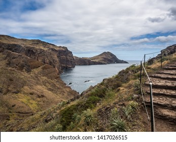 Hiking trail on Ponta de Sao Lourenco peninsula. Madeira, Portugal.